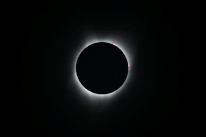 Солнечное затмение в Депо Бэй, штат Орегон, 21 августа 2017 года