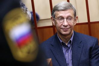 Глава АФК «Система» Владимир Евтушенков на заседании Басманного суда Москвы, 14 ноября 2014 года