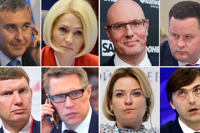 Новый лица российского правительства