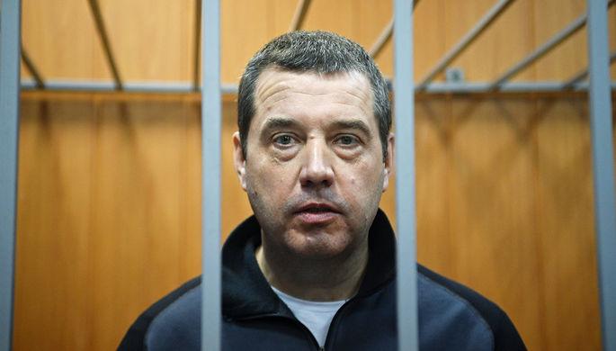 Бывший глава Росграницы России Дмитрий Безделов во время заседания Мещанского суда Москвы, 29 декабря 2017 года