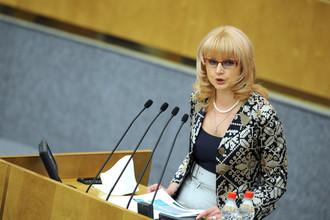 Министр здравоохранения и социального развития Татьяна Голикова на заседании Госдумы