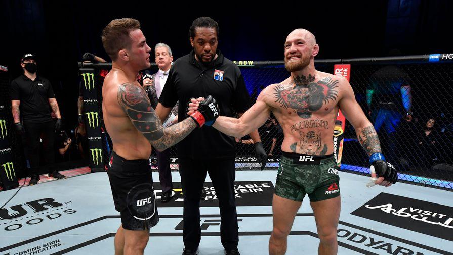 Дастин Порье и Конор Макгрегор после боя на UFC 257.
