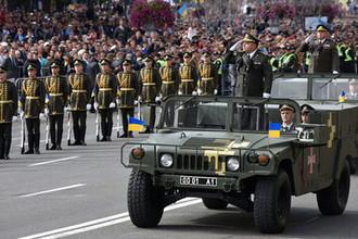 Министр обороны Украины Степан Полторак на параде в честь Дня независимости в Киеве, 24 августа 2017 года