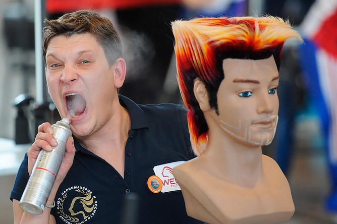 На чемпионате Европы по парикмахерскому искусству