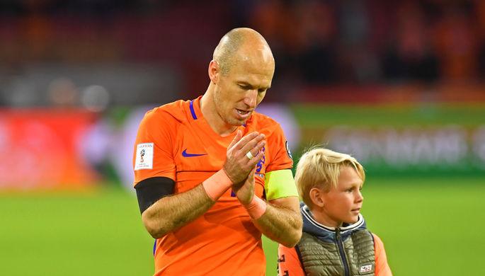 Арьен Роббен заверщил карьеру в сборной Нидерландов победным, но ничего не решившим дублем