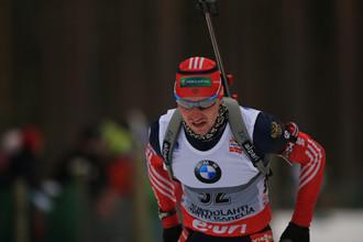 Российский биатлонист Александр Логинов