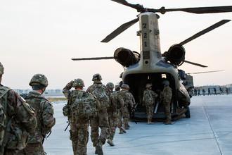 Военнослужащие США на военной базе в афганской провинции Нангархар, 2014 год