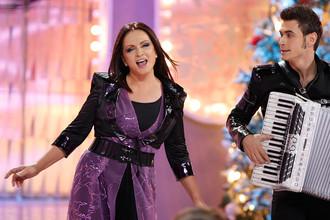 2010 год. София Ротару принимает участие в съемках новогодней программы «Голубой огонек»