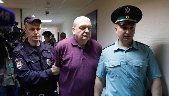 Бывший глава Федеральной службы исполнения наказаний Александр Реймер перед оглашением приговора в Замоскворецком суде Москвы, 2017 год