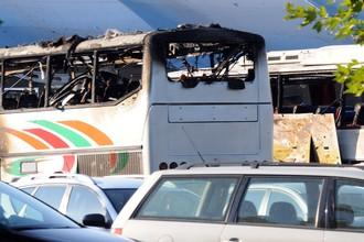 Автобусы, уничтоженные взрывом возле аэропорта Бургаса, июль 2012