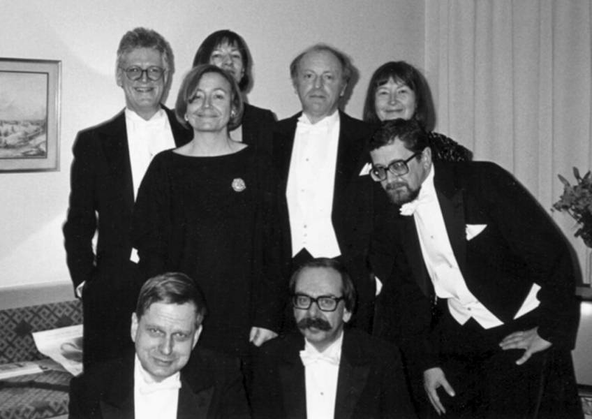В кругу друзей перед вручением Нобелевской премии