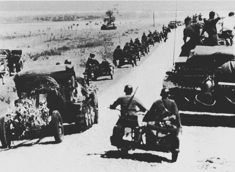 Наступление немецких моторизованных частей. Июнь 1941 года