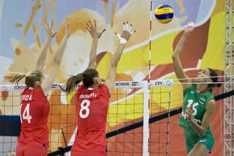 Женская сборная России по волейболу победила команду Болгарии