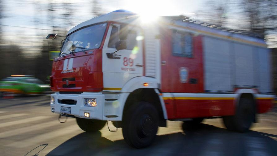 Автобус сгорел в Москве
