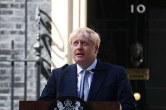 Премьер-министр Великобритании Борис Джонсон на Даунинг-стрит в Лондоне, 24 июля 2019 года