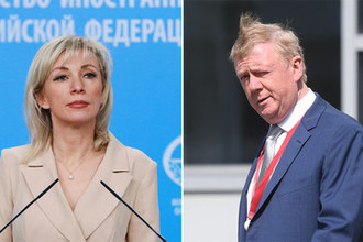 Елена Захарова и Анатолий Чубайс, коллаж «Газеты.Ru»