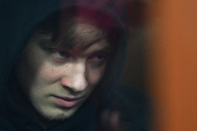 Брат футболиста Александра Кокорина Кирилл Кокорин на заседании Тверского районного суда Москвы, 6 февраля 2019 года
