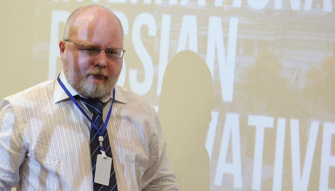 Константин Крылов на Международном русском консервативном форуме в Санкт-Петербурге, 2015 год