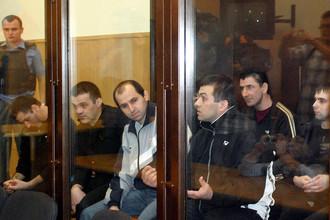 Обвиняемые по делу «Невского экспресса» в зале Тверского областного суда, 2009 год