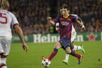 Дубль Лионеля Месси принес «Барселоне» победу над «Миланом»