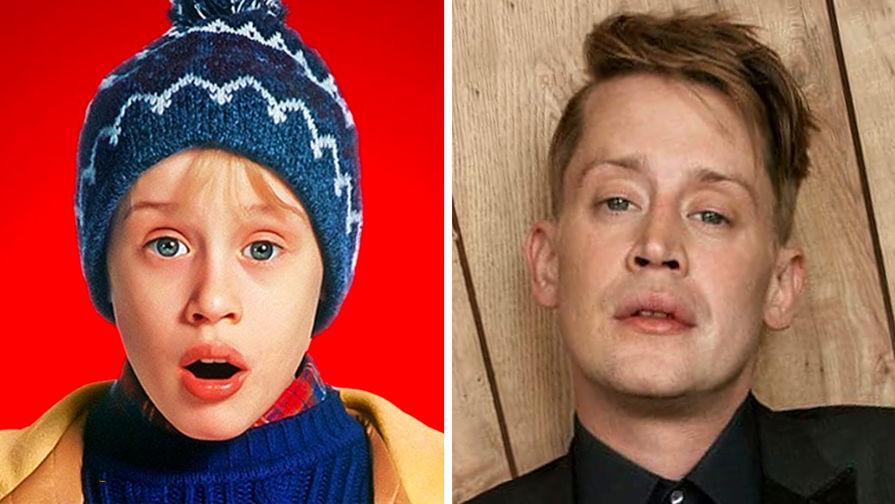 Маколей Калкин в роли Кевина Маккаллистера в 1990 году и Маколей Калкин в 2020 году