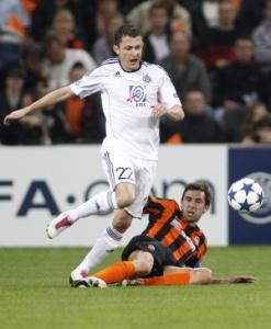 Автор гола в матче с «Партизаном» Дарио Срна (внизу)