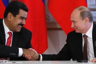 Президент Венесуэлы Николас Мадуро и российский президент Владимир Путин во время встречи в Кремле, июль 2013 года