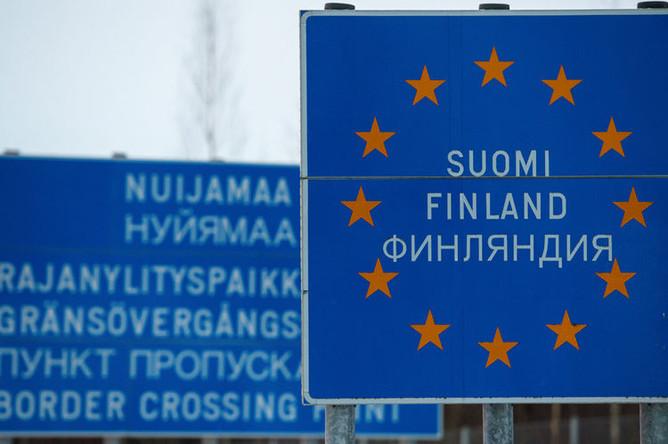 Граница России и Финляндии в районе пункта пропуска Нуйамаа, 2016 год