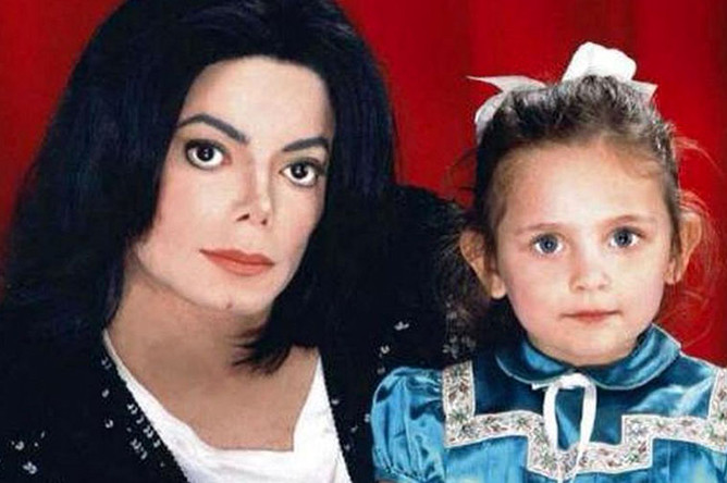 Майкл Джексон с дочерью Пэрис