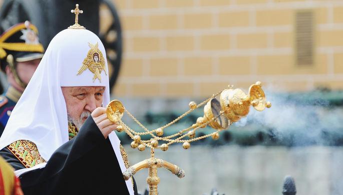Патриарх Кирилл на церемонии открытия памятного креста в честь убитого князя Сергея Александровича