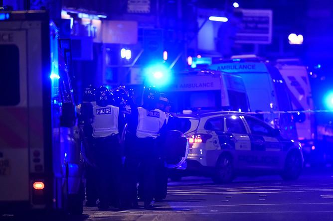 Ситуация на месте инцидента в центре Лондона, 4 июня 2017 года