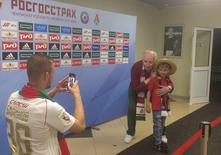 Актер Валерий Баринов и футболист «Локомотива» Дмитрий Баринов