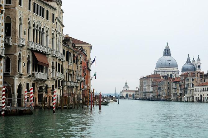 Опустевший Гранд-канал в Венеции, 10 марта 2020 года