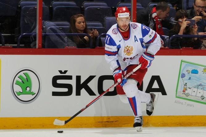 Александр Радулов удвоил преимущество россиян на 9-й минуте.