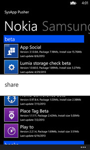 sysapp pusher lumia 630