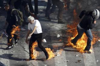 Массовые столкновения произошли в центре Афин