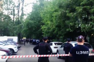 Кадр из прямой трансляции ситуации в московском районе Новогиреево, 24 мая 2018 года
