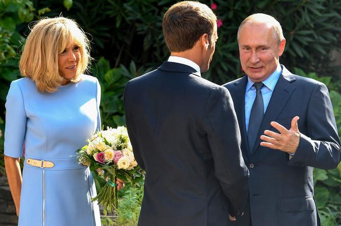 Путин, Макрон и Бриджит