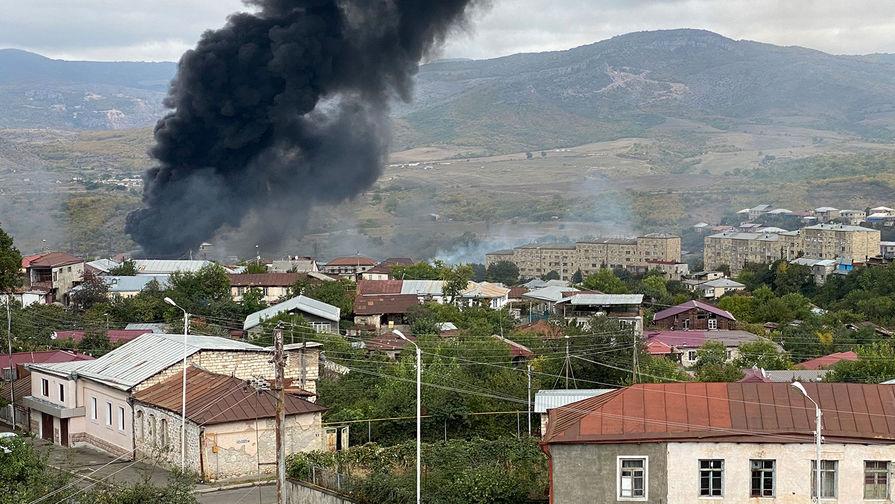 Воронки от снарядов: Ереван показал атакованный Степанакерт