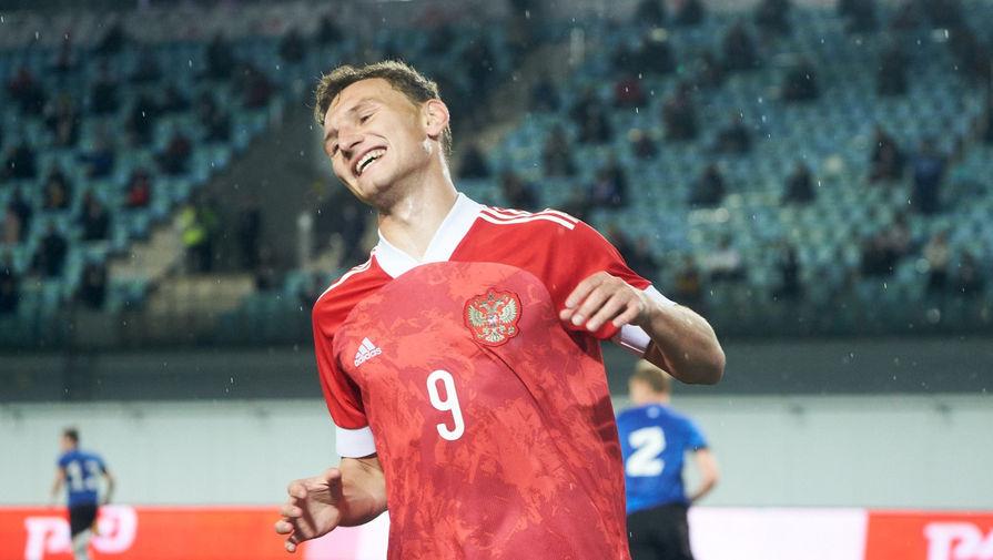 Нападающий молодежной сборной России Федор Чалов