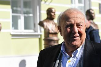 Скульптор Зураб Церетели на открытии «Аллеи Правителей» ХХ века в Москве, 22 сентября 2017 года