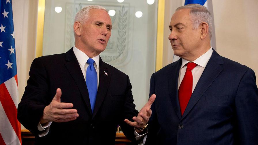 Вице-президент США Майк Пенс и премьер-министр Израиля Биньямин Нетаньяху, 22 января 2018 года