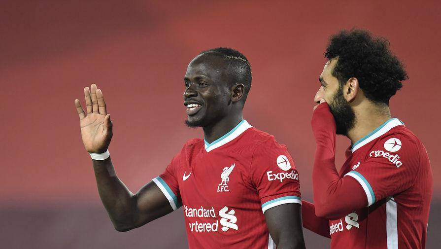 Игроки «Ливерпуля» Садио Мане и Мохамед Салах