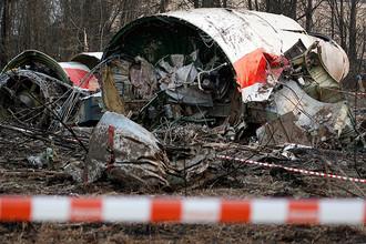 Фотография с места крушения Ту-154 под Смоленском, 11 апреля 2010 года
