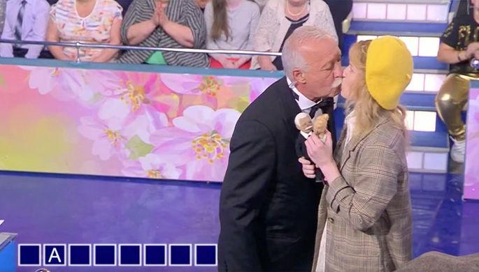 Певица Монеточка и Леонид Якубович в эфире «Первого канала», 14 сентября 2018 года