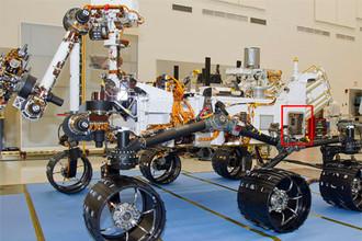 Положение прибора DAN на марсоходе Curiosity