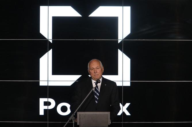 Генеральный директор госкорпорации «Ростех» Сергей Чемезов во время презентации нового бренда «Калашикова»