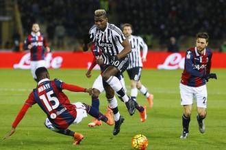 Самоотверженная игра футболистов «Болоньи» так и не позволила «Ювентусу» вскрыть ее оборону