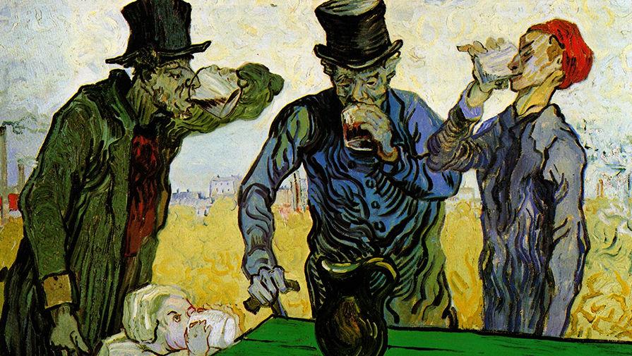 Фрагмент картины Винсента Ван Гога «Пьяницы» (интерпретация рисунка Оноре Домье). 1890