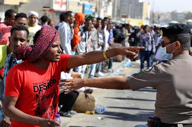 Нелегальные мигранты из Эфиопии задержаны силами безопасности Саудовской Аравии на юге Эр-Рияда
